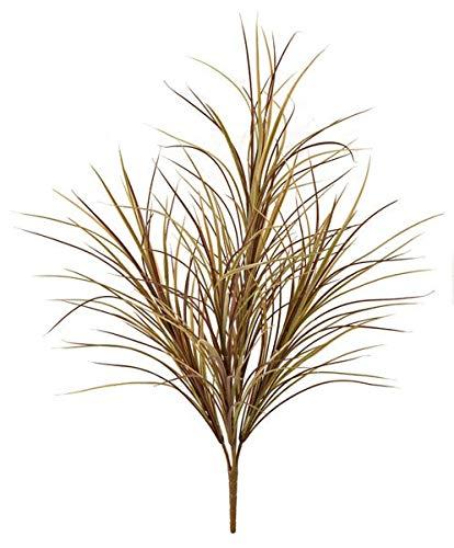 AUF001 - Arbusto de zacate Silvestre de plástico, 76,2 cm, Color Verde/marrón