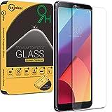 [2-Pack] Jasinber Mica de Vidrio Cristal Templado para LG G6