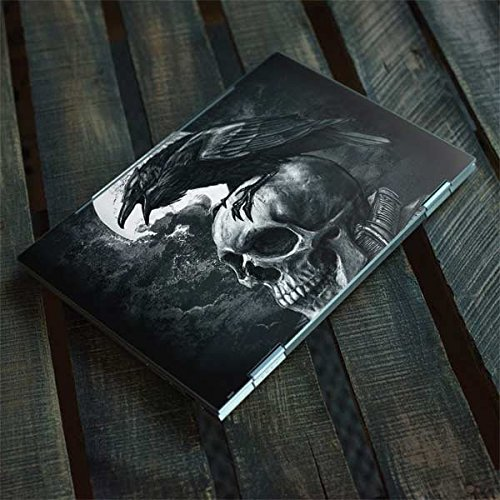 Skinit Skull & Bones Envy x360 15t (2018) Skin - Alchemy - Poe's Raven Design - Ultra Thin, Lightweight Vinyl Decal Protection by Skinit (Image #3)