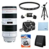 Canon EF 70-200mm f/2.8L USM Telephoto Zoom Lens for Canon SLR Cameras w/ 77mm Multicoated UV Protective Filter, Deluxe Bag, Lens Cap Keeper, Microfiber Cleaning Cloth, Memory Card Wallet, USB 2.0 Card Reader, Professional Tripod Review