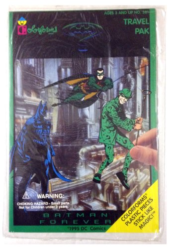 BATMAN FOREVER Travel Pak by Colorforms // 1995 by Colorforms