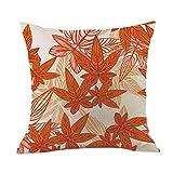 MaxFox 4PC Cotton Linen Throw Pillow Cover 18 x 18 Inch Pillow Cover for Sofa Bedroom Car Decor