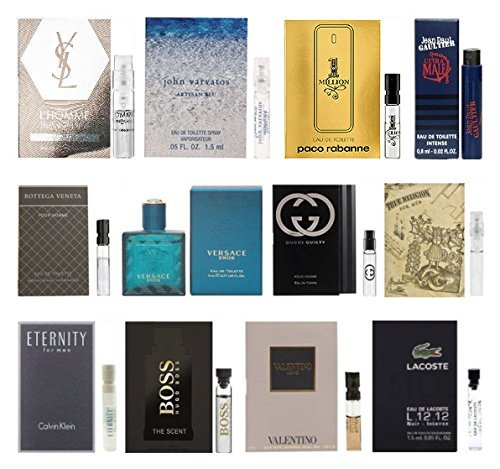 12 Men's Cologne Samples Vials & Miniature Set Tom Ford, Yves Saint Laurent ()