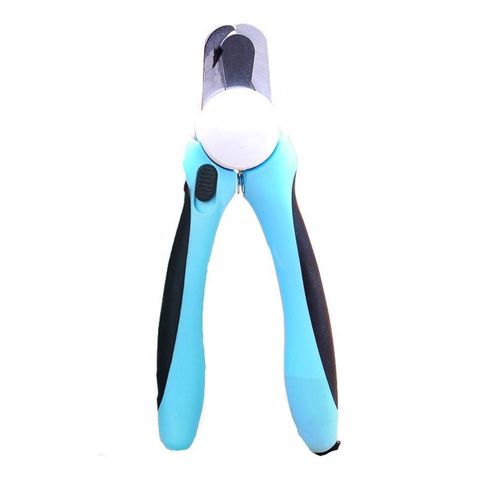HYBHD Pet Beauty Manicure Professional Pet Nail Clippers Nail File with Safety Guard, Blue-L