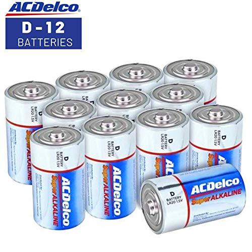 ACDelco D Batteries, Super Alkaline Battery, 12 Count Pack