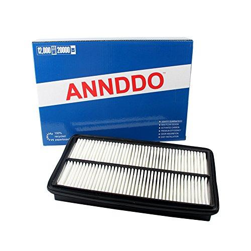 ANNDDO (CA10013) Rigid Panel Air Filter Fits Acura MDX Truck, Honda Odyssey & Pilots Trucks, Maximum Air Flow Part # A25651