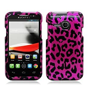 Bloutina Snap On Hard Protector Cover Case For Alcatel One Touch Evolve 5020T - Hot Pink Leopard