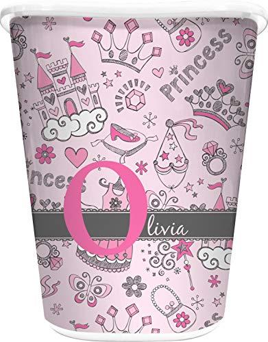 RNK Shops Princess Waste Basket - Single Sided (White) (Personalized) Disney Princess Trash Can