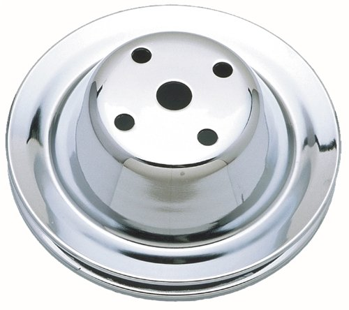 Trans-Dapt 9604 Chrome Single Groove Water Pump Pulley