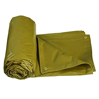 LIYFF- Tenda da Esterno per Tenda da Campeggio Impermeabile Resistente all'Aria Aperta per Campeggio e Outdoor - protetta da UV, 550 g/m², Spessore 0,5 mm, opzioni Multi-Formato (Giallo)