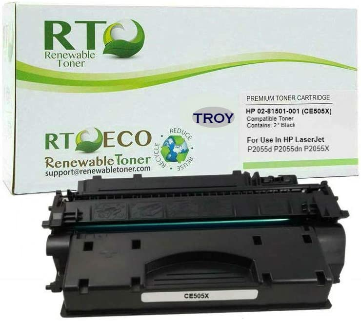 Renewable TonerCompatible MICR Toner Cartridge High Yield Replacement for Troy 02-81501-001 HP CE505X 05X for use in P2055 P2055DN P2055D P2055X