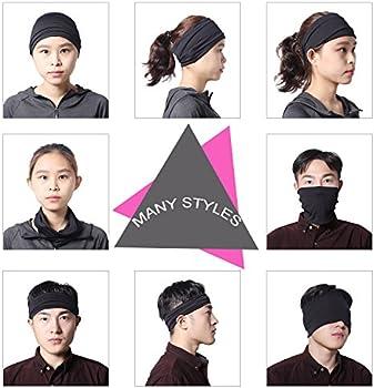 ea3214a875fa Headbands for Men and Women - Sweat Wicking Turban Elastic No Slip Fashion  Multi Style Head. Loading images.