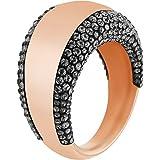 Swarovski Damen-Ring Glas schwarz Gr. 58 (18.5) - 5096485