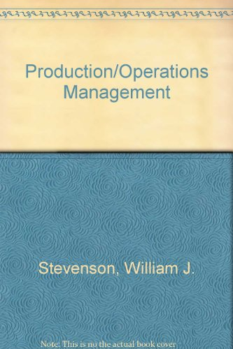 Pdf book and operation production management