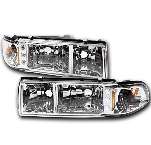 (ZMAUTOPARTS Chevy Caprice/+ Impala LED Crystal Headlight Lamp W/Corner Signal)