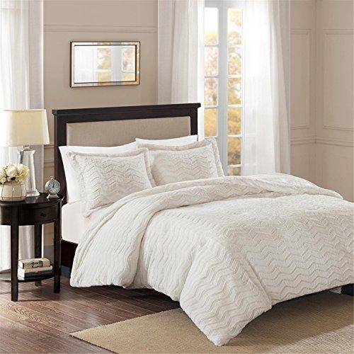 Madison Park Sloan Plush Down Alternative Comforter Mini Set Ivory King/Cal King