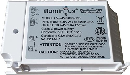 24V 48W Dimmable CV DC LED Driver ETL (UL) approved by illuminous