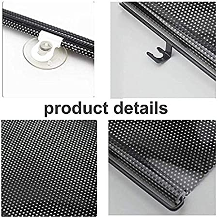 Car Window Sun Shade Car Side Windscreen SunShade for Baby Lacliet Universal Roller Blind Retractable Auto Sunshade Protector Blocks Harmful UV Rays and Heat to Protect Baby Kids Pets and Passengers