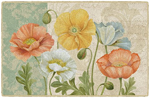 Brumlow Mills EW10330-20x34 Pastel Poppies Multi Kitchen and Entryway Floral Rug, 1'8