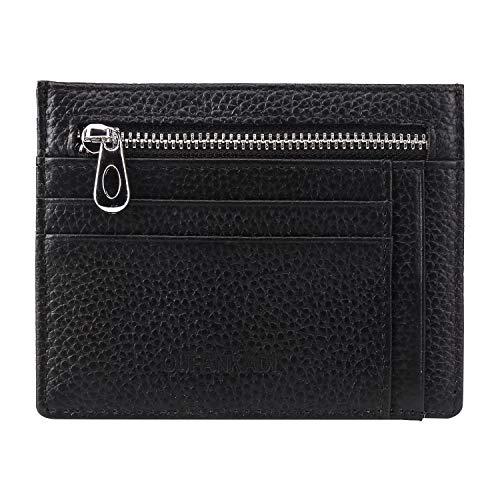Slim Minimalist Wallet Credit Card Holder Front Pocket RFID Blocking Genuine Leather Wallets for Men or Women