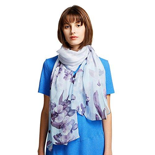 Womens 100% Mulberry Silk Head Scarf For Hair Ladies Silk Floral Head Scarfs (YRTL02)