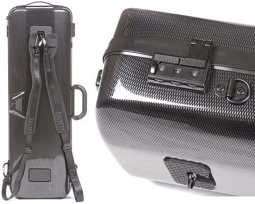 Bam France Hightech 2011XL Violin Case w/ Black Carbon Exterior & Music Pocket plus