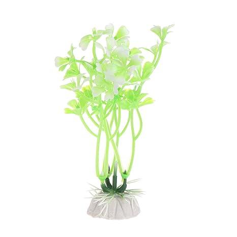 Lunji planta acuática artificial, decoración de acuario de hierba flor pecera