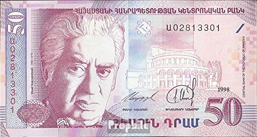 Prophila billetes para coleccionistas: Armenia Pick-No.: 41 unc 1998 50 Dram