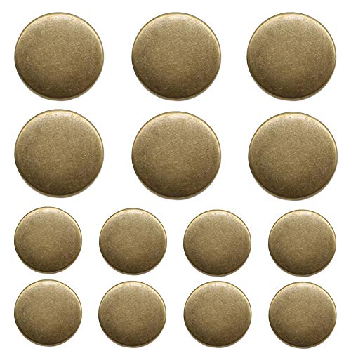 (YaHoGa 14 Pieces Antique Metal Buttons 20mm 15mm Blazer Buttons Set for Blazers, Suits, Sport Coat, Uniform, Jackets (MB20160) )