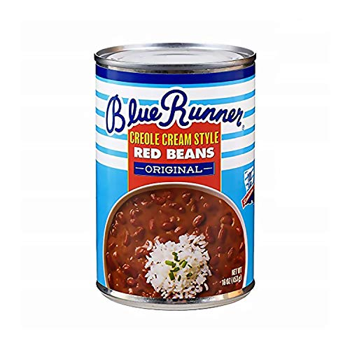 Blue Runner Creole Cream Style Red Beans 16 oz (Pack of 6)