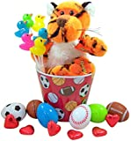 Reese's Peanut Butter Cup Rapping Tiger Easter Basket with Sports Themed Eggs