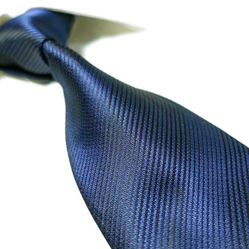 Necktie XL Extra Jacquard Long Solid Handmade Fashion Blue Navy Mens Tie Woven XFX7wS