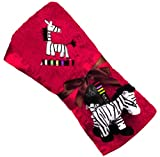 Kushies Zebra Blanket with Plush Toy, Red - Best Reviews Guide