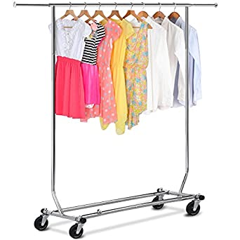 Amazon.com: Sólo Perchas® Heavy Duty plegable Single Rail ...