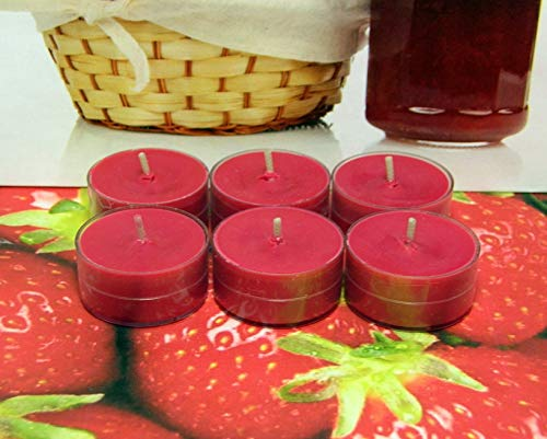 (Strawberry Jam PURE SOY Tea Light Candles)