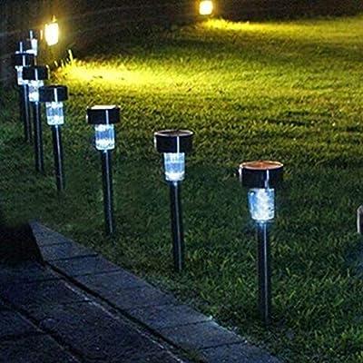 yanbirdfx Outdoor Yard Solar Power LED Tube Lamp Lawn Light Landscape Festival Party Decor : Garden & Outdoor