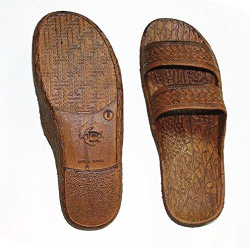 Brown Rubber Slide Sandal Slipper Comfortable Slip On