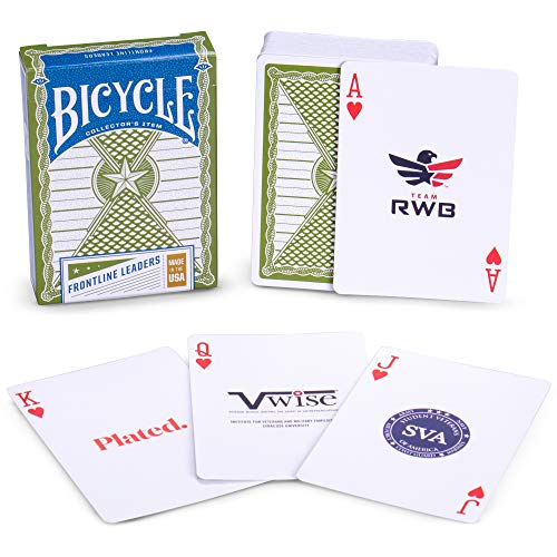 Bicycle Frontline Leaders Collector's Item Playing Cards | Highlighting 52 Post 9/11 Businesses and Charities | Military-Made in The USA