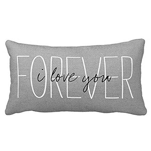 Standard Pillowcase Home Decorative Cushion Case Rustic Gray