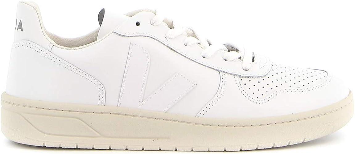Veja V-10 Extra White Leather Sneakers