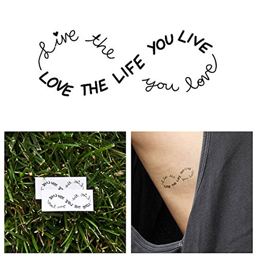 Tattify Inspiring Infinity Temporary Tattoo - Obvious (Set of 2)