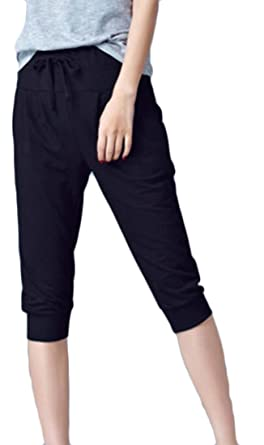 b71cb1c525f Pivaconis Men Casual Relaxed-Fit High Waist Sweatpants Athletic Sport  Jogging Pants Black X-