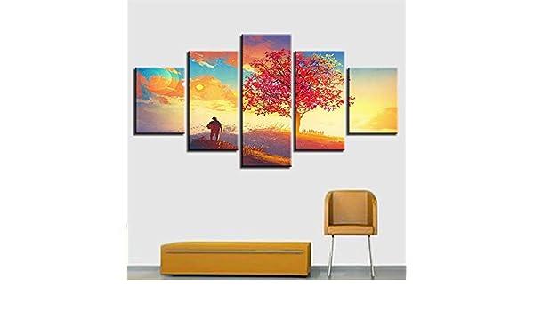 SUYUN Pintura Decorativa, Chorro de Tinta Moderno Wulian Bosque ...