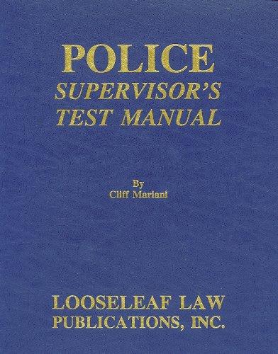 Police Supervisor's Test Manual