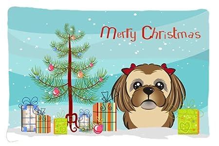 Carolines Treasures BB1594PILLOWCASE Christmas Tree and Yellow Labrador Fabric Standard Pillowcase Multicolor Large
