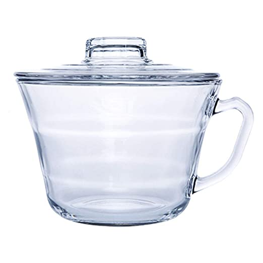 Salad Bowls Cuenco de Cristal para el Almuerzo de microondas con ...