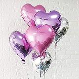Mermaid Balloon 24pcs Heart Shape Foil Balloons