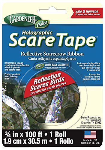 - Dalen HST100 Gardeneer Holographic Scare Tape Reflective Scarecrow Ribbon 3/4