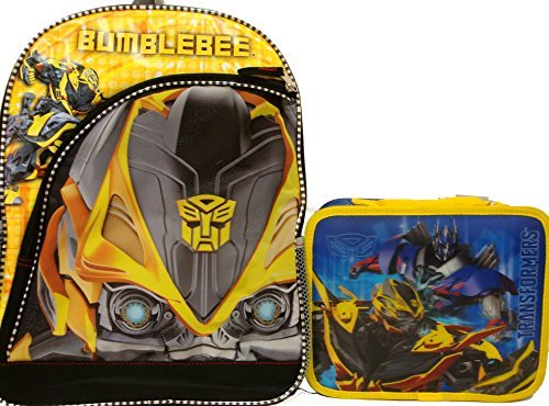 Transformers Bumblebee Large Backpack and Matching Insulated Lunchbag