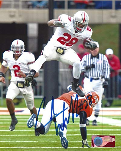 - Chris Beanie Wells OSU 8-1 8x10 Autographed Signed Photo - Certified Authentic